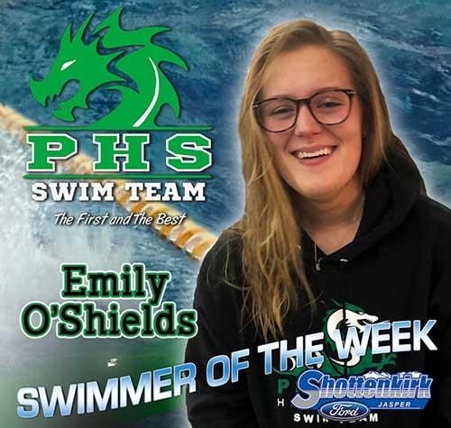 Emily O'Shields Named PHS Girls Swimmer of the Week