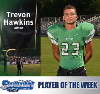 Trevon Hawkins Named Shottenkirk Ford's Player of the Week