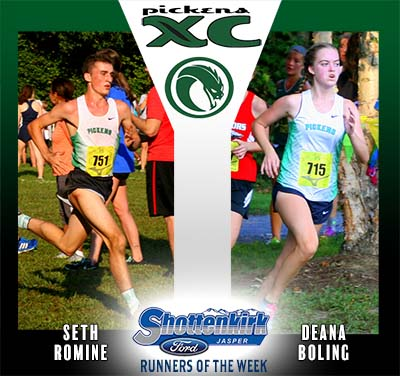 Boling and Romine Named PHS XC Runners of the Week