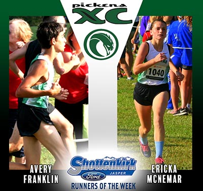 McNemar & Franklin Named PHS XC Runners of the Week