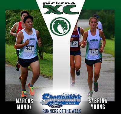 Young and Munoz Named PHS XC Runners of the Week