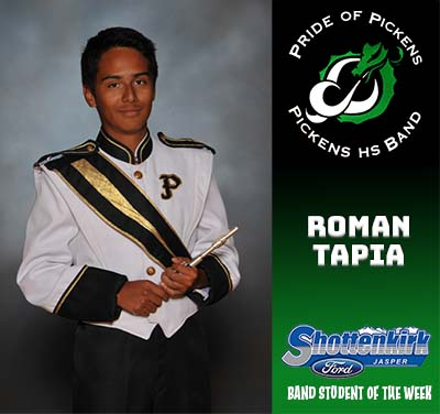 PHS Band Student of the Week - Roman Tapia