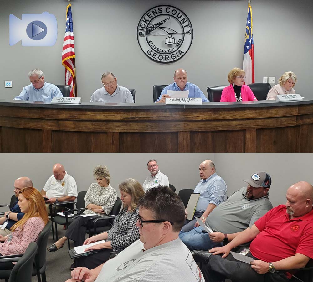 Pickens County Board of Commissioners Work Session September 16, 2021