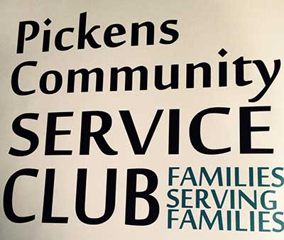 New Pickens Service Club Being Formed 'Families Serving Families'