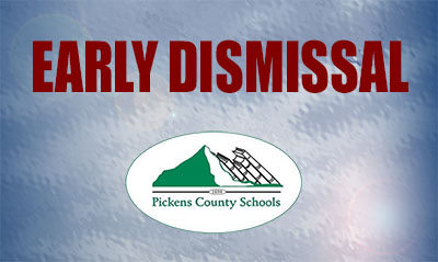 Pickens County School District Closing Early Tomorrow, January 6, 2017