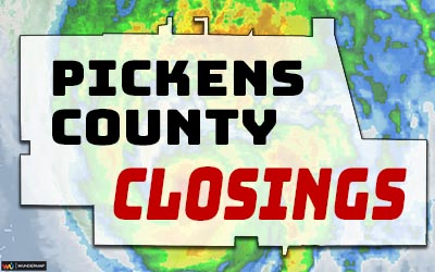 Pickens County Closings Due to Tropical Storm