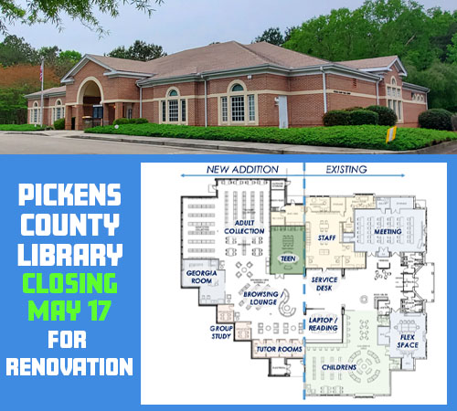 First Visual of Upcoming Pickens County Library Renovation Project