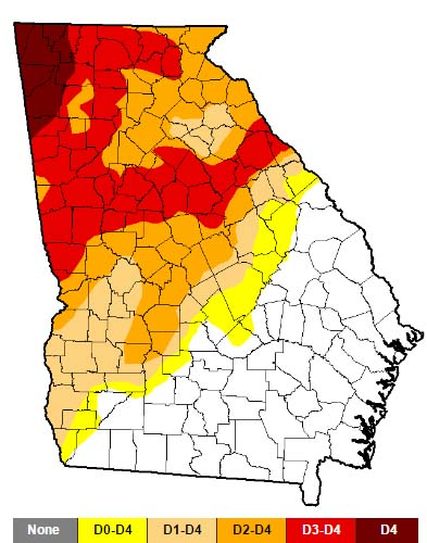 Pickens County Declared a Level 3 Drought Zone