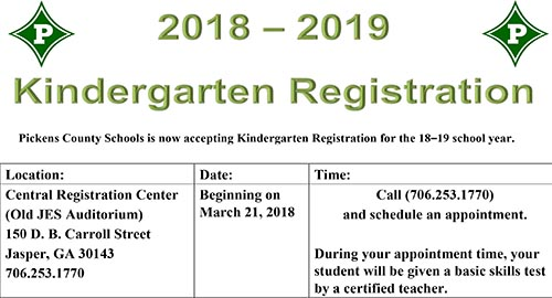 Pickens County School Calendar.Pickens County Schools Kindergarten Registration Begins