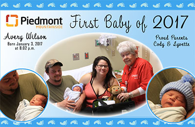 First Baby of 2017 at Piedmont Mountainside Hospital