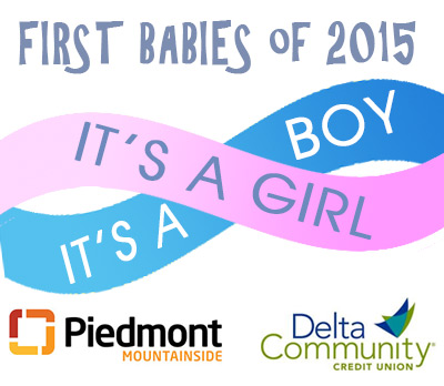 Piedmont Mountainside's first New Year's twins receive $500 from Delta Community Credit Union