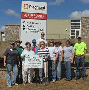 Piedmont Mountainside Hospital Thanks Pickens County 4-H and Master Gardeners
