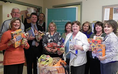 Piedmont Mountainside Hospital Employees Collected and Donated Canned Foods to CARES