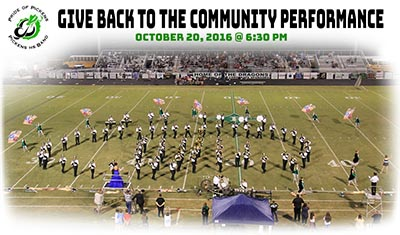 Pride of Pickens 'Give Back To The Community' Performance