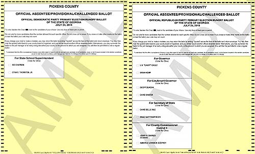 Click for PDF versions of the sample ballots: <br> <a href='https://www.knowpickens.com/pdf/2-10-DEM-FB.pdf' target='_blank'>Democratic</a>   <a href='https://www.knowpickens.com/pdf/3-30-REP-FB.pdf' target='_blank'>Republican</a>