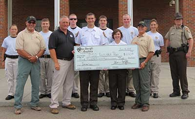 Sheriff's Explorer Post Receives Donation for Service