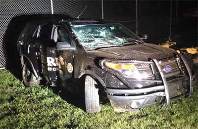 PSO Officer Rear Ended in Patrol Vehicle