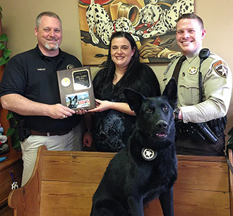 Pickens Sheriff Recognizes Abba Dabba Dog For Service of K-9 Officer Bleckey