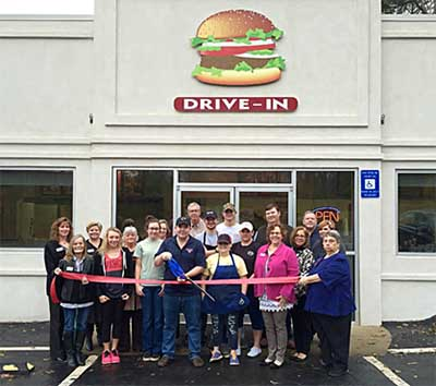 Ribbon Cutting for new Quick Burger Owners