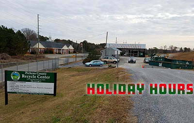 Pickens County Recycle Centers Holiday Hours