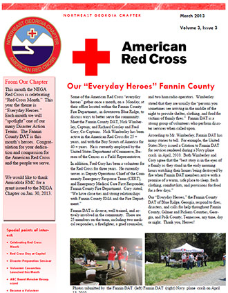 Northeast Georgia Chapter American Red Cross March Newsletter (PDF)
