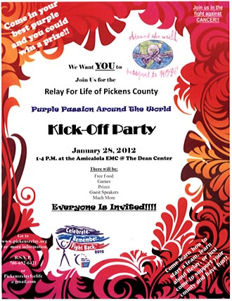 Relay For Life of Pickens County 2012 Kick Off Party