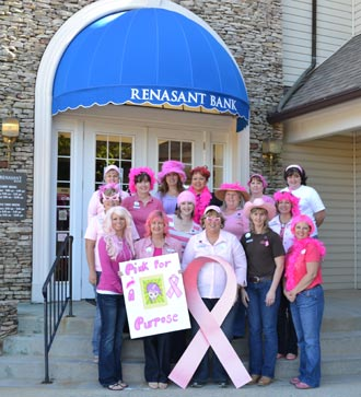 Renasant Bank is Going Pink for the Cure