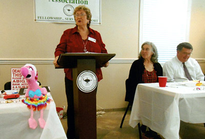 Retired Educators Welcomed Representative Jasperse at December Meeting