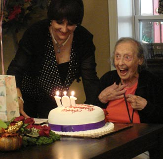 Rose D'Angelo celebrated her 101st Birthday in mid-October
