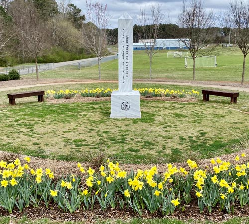 Rotary to Dedicate Holocaust Children's Daffodils at The Peace Park 2 pm Sunday