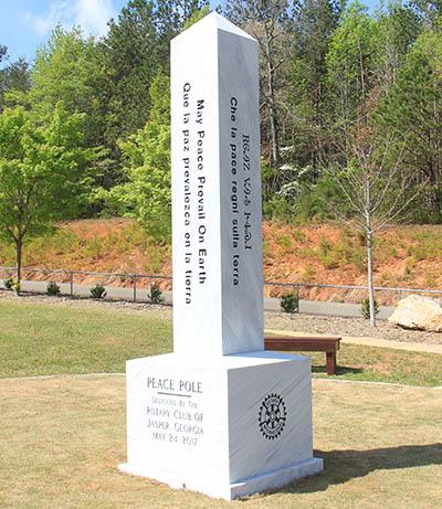Peace Pole Dedication at Jasper Rotary Peace Park