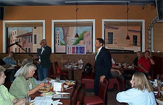 TEA PARTY MEETING AT PUEBLO�S CANTINA WAS FACT PACKED & GARNERED QUESTIONS