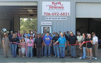 Ribbon Cutting and Business After Hours for Jasper Muffler and Auto Repair and R & R Towing