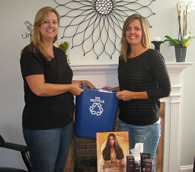 Hair Salon 84 joins Keep Pickens Beautiful Business Recycling Program