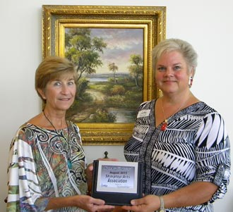Chamber of Commerce announces the August Small Business of the Month is awarded to non-profit, Sharptop Arts Association