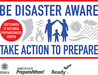 Pickens County Emergency Management Agency Urges Pickens County Residents to Take Time to Get Ready During National Preparedness Month
