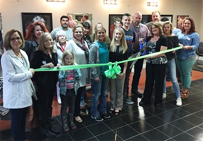 Serenity 7 Salon Ribbon Cutting