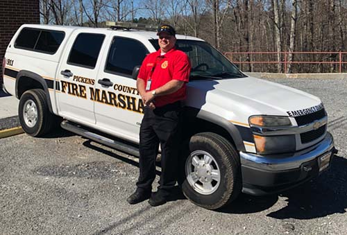Shane Callahan To Replace Retiring Curtis Clark as Pickens Fire Marshal