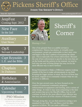 Pickens Sheriff's Office April Newsletter