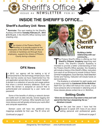 Pickens Sheriff's Office February Newsletter