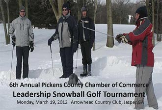 Sign up for the Pickens Chamber's Annual Snowball Golf Tournament