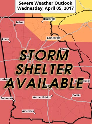 Storm Shelter Open for Pickens County