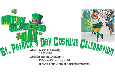 "SHARPTOP ARTS ASSOCIATION AND ANIMAL SHELTER OF PICKENS WILL ""PAINT PICKENS GREEN"" ON MARCH 15TH"