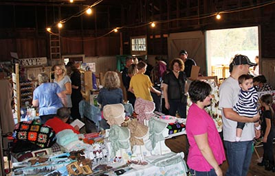 Arts and Crafts Vendors inside the Tate Depot
