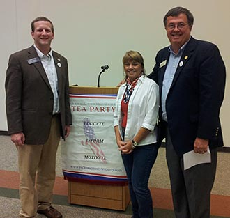 Judge Brenda Weaver, Senator Charles Bethel, and Representative Rick Jasperse @ Pickens Tea Party Meeting