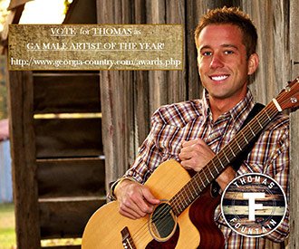 Vote for Thomas Fountain for Georgia Country Male Artist of the Year & WYYZ 1490AM for Country Radio Station of the Year