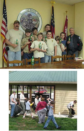 Keep Pickens Beautiful and the Talking Rock Boy Scout Troop 1883 team up to do their part in the Great American Cleanup