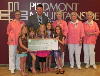 Local Brownie Troop Donates to Piedmont Mountainside Hospital Auxiliary