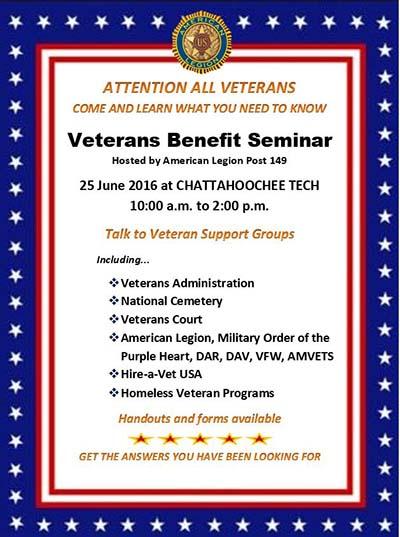Upcoming Veteran Benefits Seminar Open To All Veterans