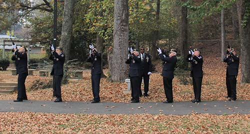 21-Gun Salute at Ceremony in 2016
